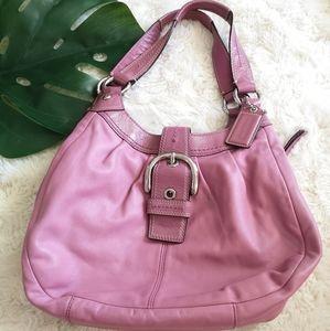 Coach pretty mauve pink leather bag
